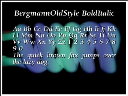 BergmannOldStyle BoldItalic Font Preview