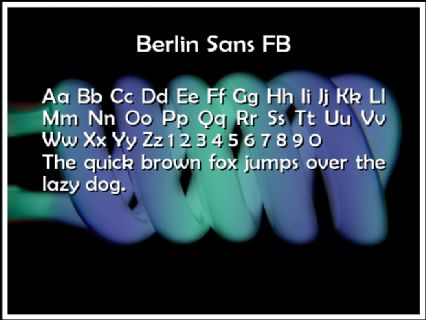 Berlin Sans FB Font Preview