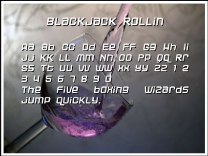 Blackjack Rollin Font Preview
