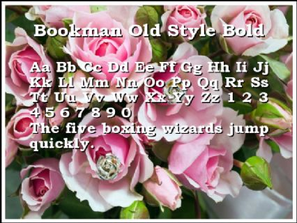 Bookman Old Style Bold Font Preview