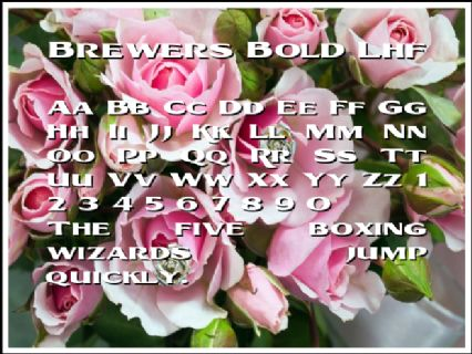 Brewers Bold Lhf Font Preview