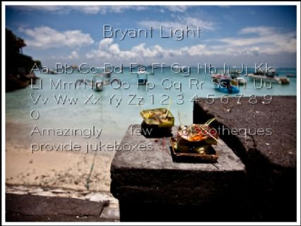 Bryant Light Font Preview