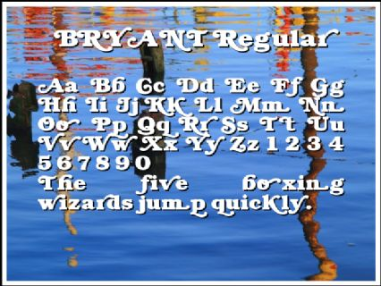 BRYANT Regular Font Preview