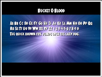Bucket O Blood Font Preview