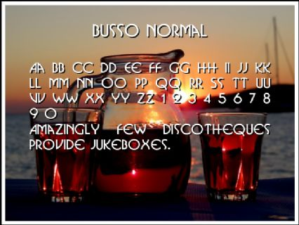Busso Normal Font Preview