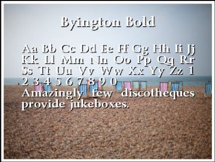 Byington Bold Font Preview