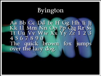Byington Font Preview