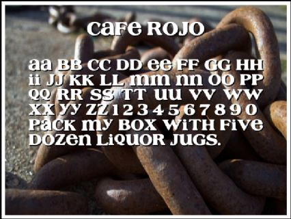 Cafe Rojo Font Preview