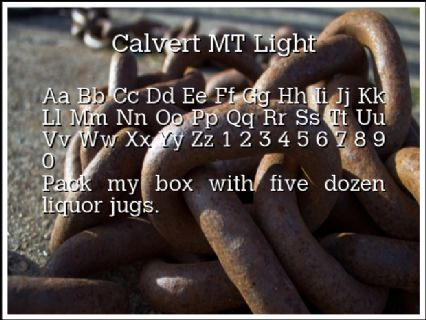 Calvert MT Light Font Preview