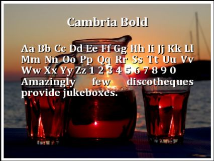 Cambria Bold Font Preview