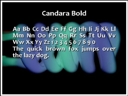 Candara Bold Font Preview