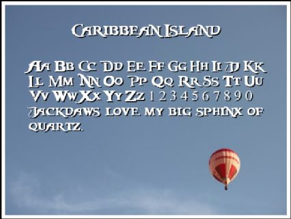 Caribbean Island Font Preview