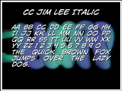 CC Jim Lee Italic Font Preview