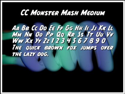CC Monster Mash Medium Font Preview