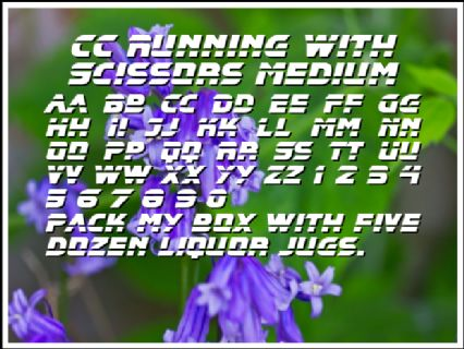 CC Running With Scissors Medium Font Preview