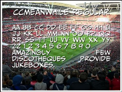 CCMeanwhile Regular Font Preview