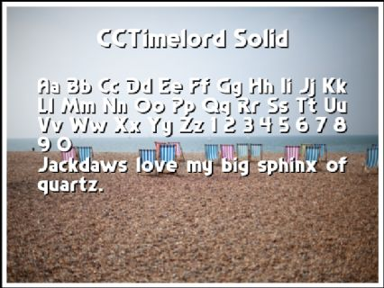 CCTimelord Solid Font Preview