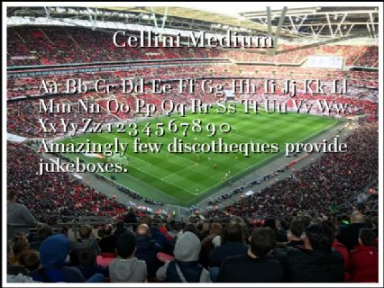 Cellini Medium Font Preview