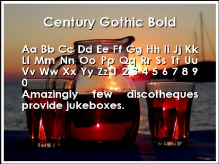 Century Gothic Bold Font Preview