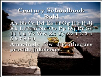 Century Schoolbook Bold Font Preview