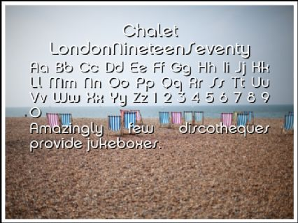 Chalet LondonNineteenSeventy Font Preview