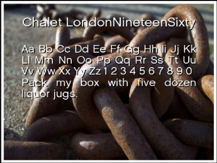 Chalet LondonNineteenSixty Font Preview