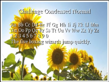 Challenge Condensed Normal Font Preview
