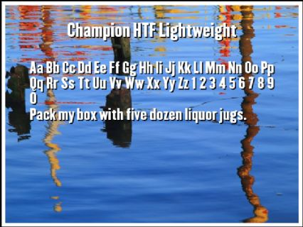 Champion HTF Lightweight Font Preview