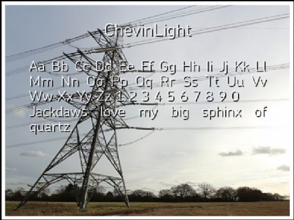 ChevinLight Font Preview