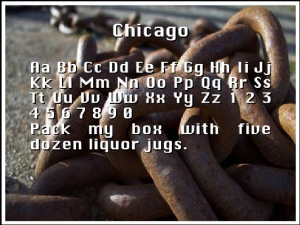 Chicago Font Preview