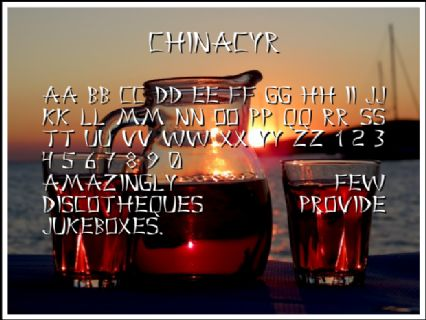 ChinaCyr Font Preview