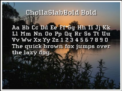 ChollaSlabBold Bold Font Preview