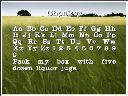 Chonker Font Preview