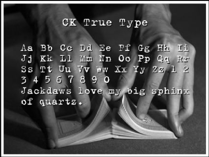 CK True Type Font Preview