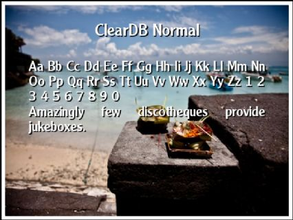 ClearDB Normal Font Preview