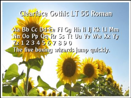 Clearface Gothic LT 55 Roman Font Preview