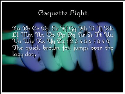 Coquette Light Font Preview