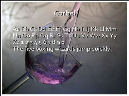 Corbel Font Preview