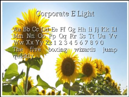 Corporate E Light Font Preview