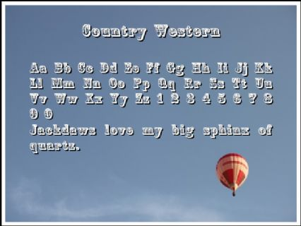 Country Western Font Preview