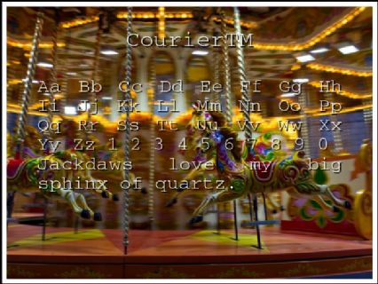 CourierTM Font Preview