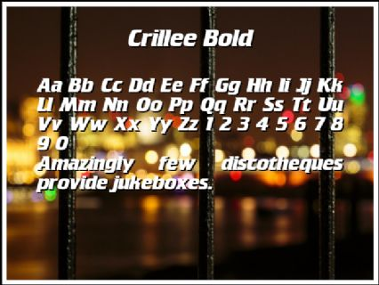 Crillee Bold Font Preview