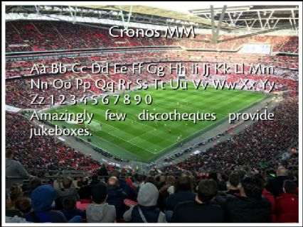 Cronos MM Font Preview
