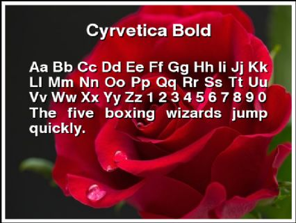 Cyrvetica Bold Font Preview