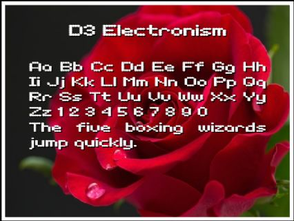 D3 Electronism Font Preview