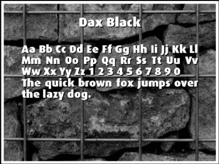 Dax Black Font Preview