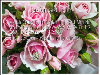DaxCompact Light Font Preview