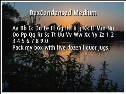 DaxCondensed Medium Font Preview
