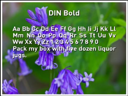 DIN Bold Font Preview