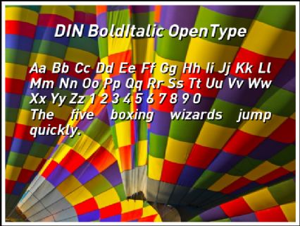 din bold italic font free download
